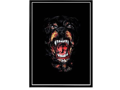 Hypebeast Dog Poster, Streetwear Poster, Modern Pop Art Poster