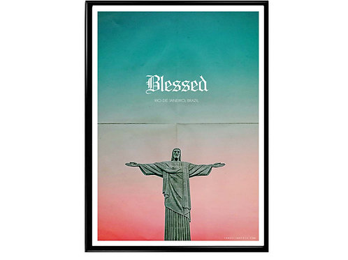Blessed the Reedemer Jesus Poster, Hypebeast Poster