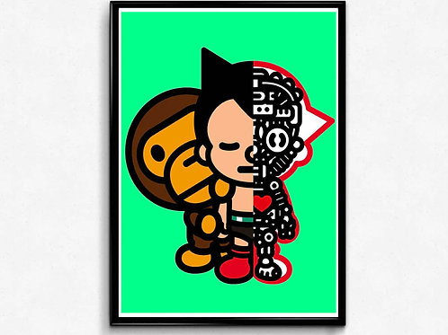 Astro Bape Inspired Poster, Hypebeast Poster Print, Pop Culture Poster