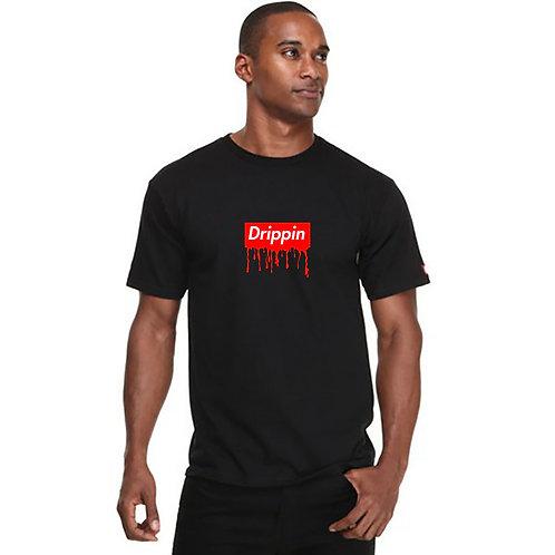 Drippin Box Logo T Shirt Streetwear Hypebeast T Shirt Slogan Quote Tees