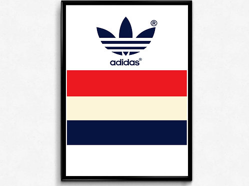 French Stripes Poster, Hypebeast Poster Print, Pop Culture Sneaker Poster