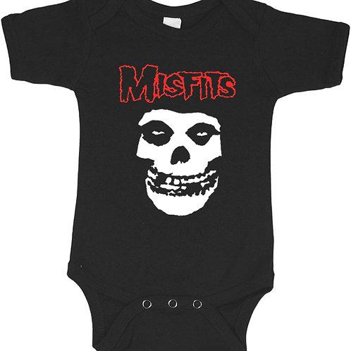 Misfits Baby Bodysuite, Cool Toddler Band Onesie, Trendy Hipster Bodysuite