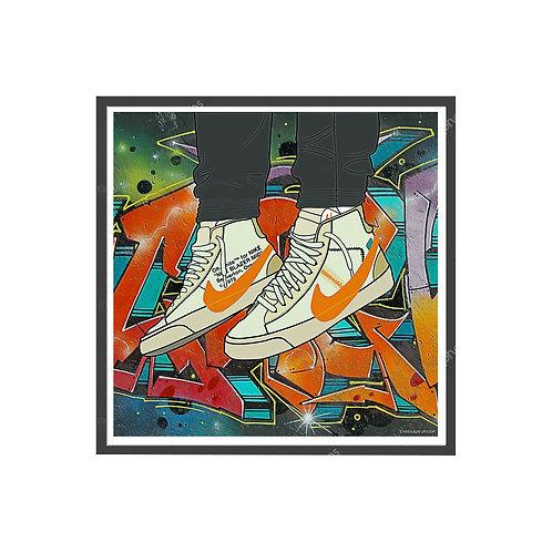 Off White Blazer Tan Sneaker Poster, Hypebeast Poster, Kicks Poster