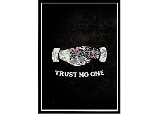 Trust No One Tattoo Art Poster, Hypebeast Poster, Graffiti Street Art Poster