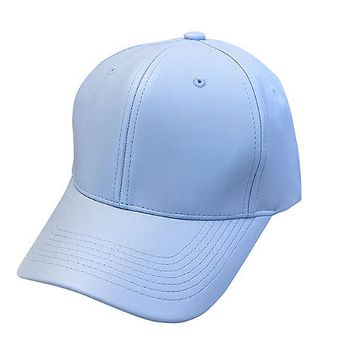 Leather Lite Blue Solid Unisex Adjustable Low Profile Dad Hat Cap