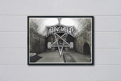 Thrasher Skate Hall Inspired Poster, Hypebeast Poster Print, Pop Culture Art