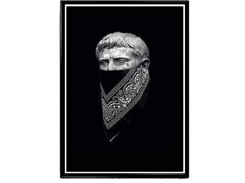 Bandanna Caesar Poster, Hypebeast Poster Print, Pop Culture Poster