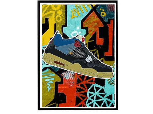 Union LA X Air Jordan Bk Sneaker Poster, Hypebeast Poster Sneaker Art