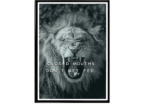Close Mouths Motivational Poster Printable