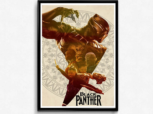 Black Panther Style Movie Poster, Alternate Cover Art Poster, Pop Culture Poster