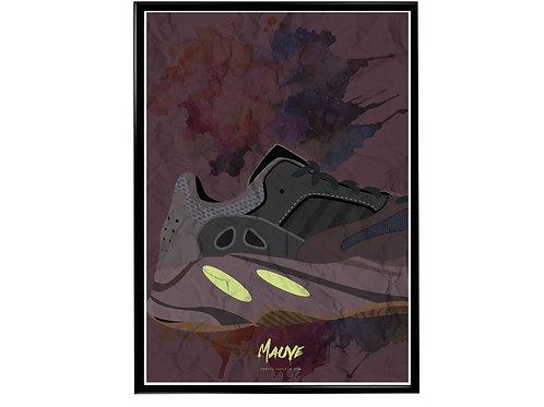 Yeezy Art Mauve Sneaker Poster, Hypebeast Poster, Modern Pop Art