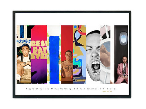 Mac Miller Album History Poster, Hypebeast Poster, Kicks Poster