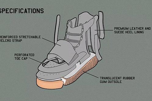 Yeezy Boost 750 Breakdown Custom Kicks Sneaker 12x18 Poster Art
