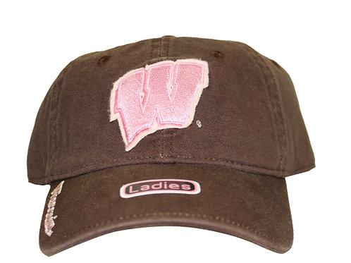 University of Wisconsin Badgers Brown Strap Back Hat Adjustable Dad Cap
