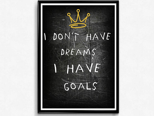 Goals Poster, Basquiat Style Poster, Hypebeast Poster Print, Graffiti Street Art