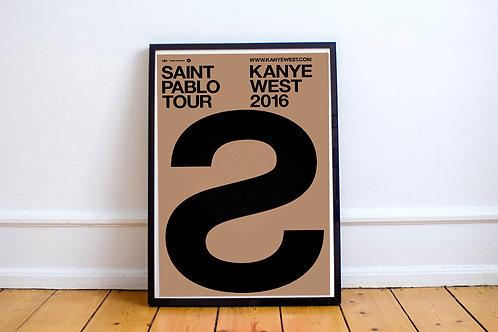 Saint Pablo Tour Custom Kanye West TLOP 12x18 Poster Art