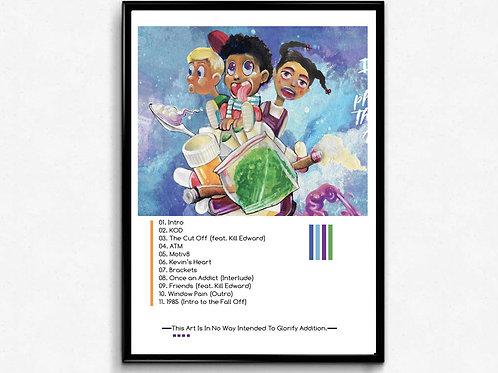 J Cole KOD 2 Poster, Hypebeast Poster Print, Pop Culture Poster Art