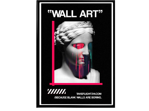 Crying Statue Urban Wall Art Poster, Hypebeast Poster, Streetwear Art