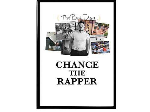 Chance The Rapper The Big Day Poster, Music Poster Rap Slogan Poster