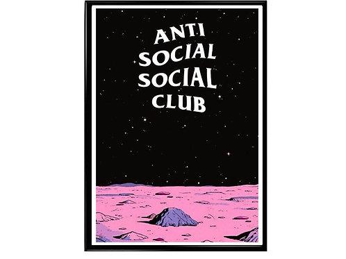 Anti Social Club Space Poster Urban Wall Art