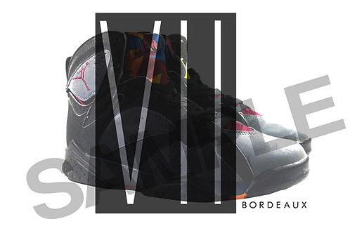 Retro Air Jordan 7 Bordeaux Custom Kicks Sneaker Poster Art