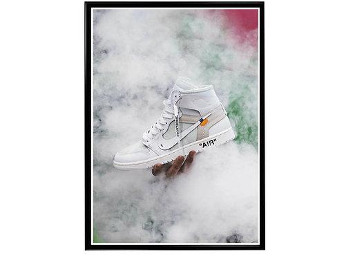 Off Jay Smoke Sneaker Poster Pop Culture Hypebeast Poster Sneaker Wall Art