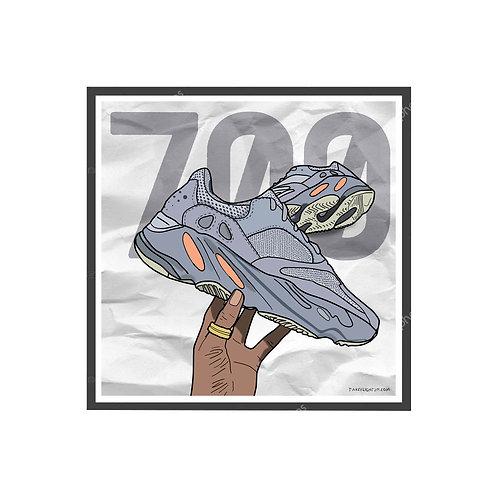 Yeezy Boost 700 Inertia Sneaker Poster, Hypebeast Poster, Kicks Poster