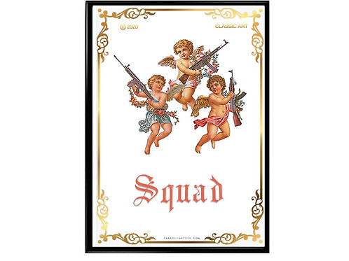 Angel Squad Poster, Hypebeast Poster, Streetwear Poster
