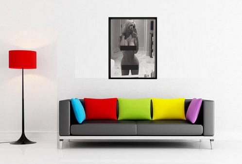 Living Room 12 X 18 nude kim kardashian selfie custom kicks sneaker 12x18 poster art