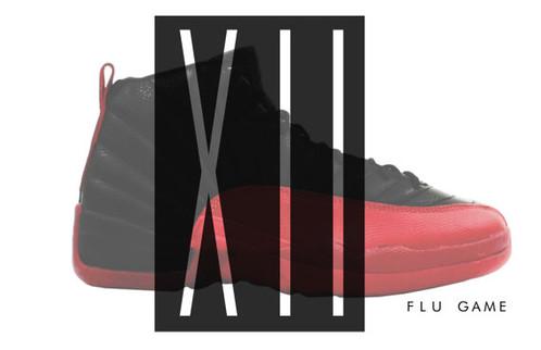 f9cb6aa88bb Air Jordan 12 Flu Game Custom Retro Sneaker Poster   Sneaker Match T ...