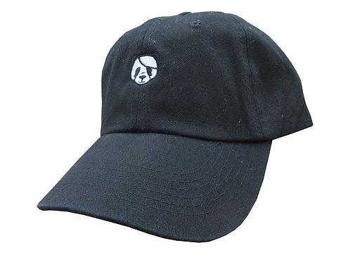 Panda Emoji Meme Black Twill Cotton Dad Hat