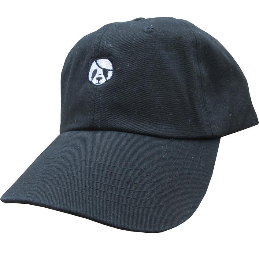 designer panda dad hat, twill cotton low profile polo style dad hat