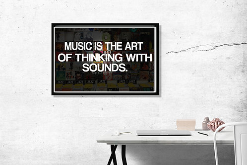 Music Is The Art Song Quote Hypebeast 2 Pac Poster Art 12x18 Poster A