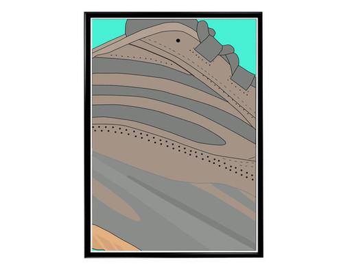 f0accfb290fb7 Custom Yeezy Boost 700 V2 Geode Sneaker Poster