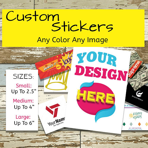 Custom Labels Lot of 20, Promo Stickers, Personalized Business Logo Labels