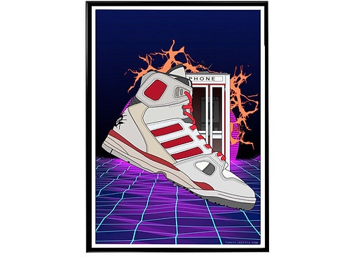 Kid Cudi x Bill and Ted Adidas Sneaker Poster, Hypebeast Poster