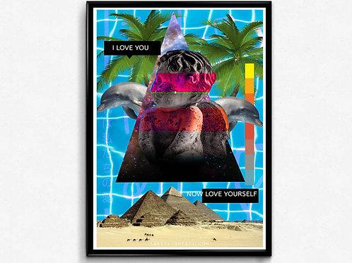 Beach Baby Poster, Hypebeast Poster Print, Mixed Media Modern Art Poster