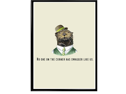 Swagger Like Us Jay Z Quote Poster, Funny Animal Art, Hypebeast Art