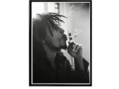 Bob Marley Minimal Art Poster, Music Poster,Rasta Poster, Smokers Poster
