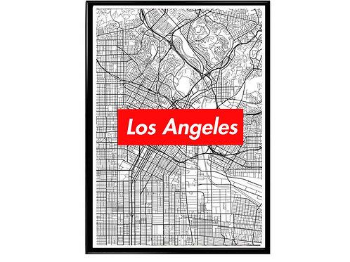 Los Angeles Map Box Logo Hypebeast Wonderlust Poster