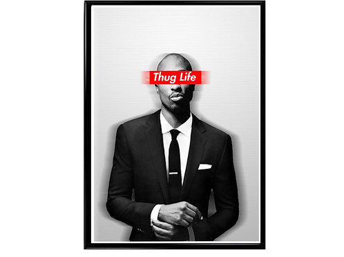 Tupac Box Logo Poster, Music Poster, Hip Hop Poster, Classic Rap Art