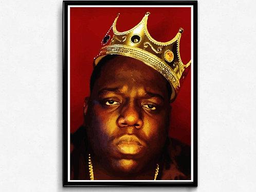 Notorious Big Crown Poster, Graffiti Art Poster, Hypebeast Wall Art