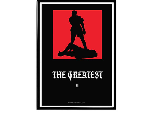 Muhammas Ali The Greatest Poster, Classic Sports Poster