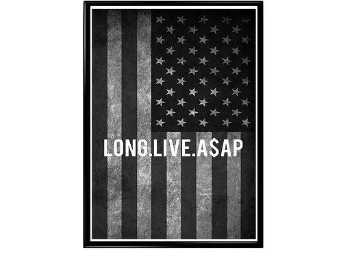 Long Live ASAP Flag Poster, Hypebeast Poster, Street Art Music Poster