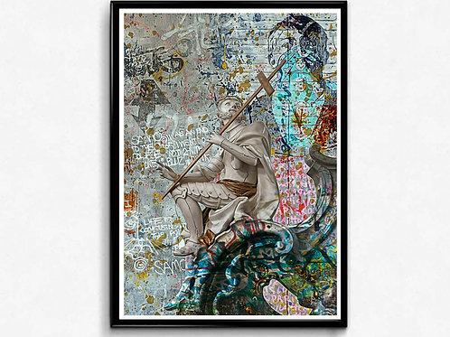 Graffiti Crusader Poster, Hypebeast Poster, Modern Pop Art, Street Art Posters