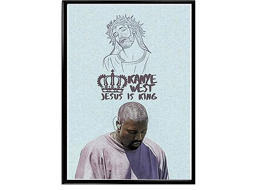Kanye West Jesus is King Fan Art Poster, Music Poster, Hip Hop Poster