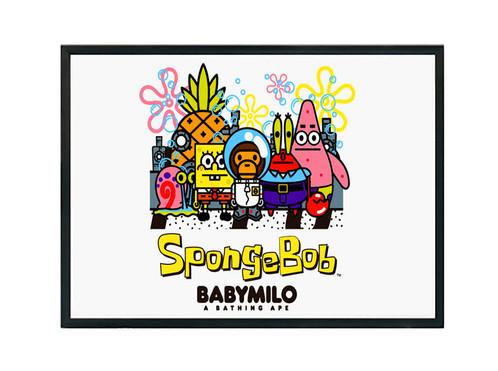 Baby Milo x Sponge Bob Gang Poster Art, Hypebeast Poster Pop Culture ...