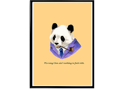 Wu Tang Clan Quote Poster, Funny Animal Art, Hypebeast Poster Canvas Art