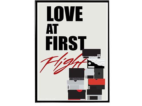 Love at First Flight Sneaker Poster, Hypebeast Poster, Kicks Poster