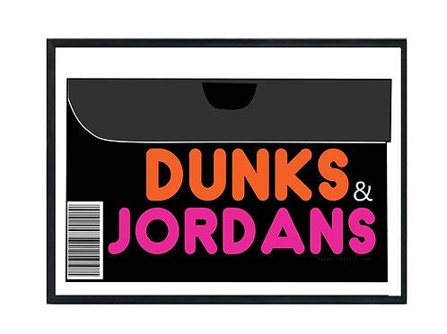 Dunks & Jordans Sneaker Poster, Hypebeast Poster, Kicks Poster